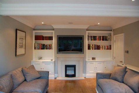 Home Cinema with recessed plasma and in ceiling speakers - Home Cinema Installation