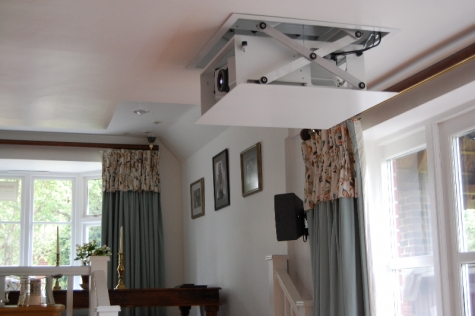 Recessed Projector and Screen